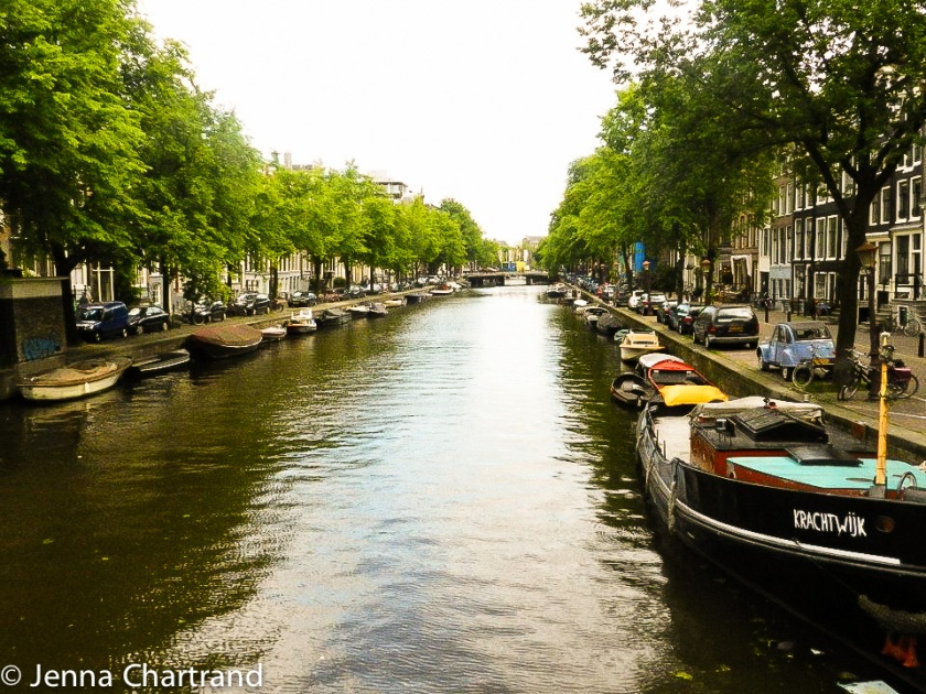 Amsterdam - Canal and Boats-