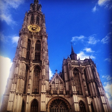 This is the Cathedral of Antwerpen